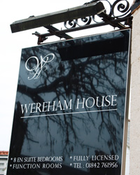 Wereham House Sign
